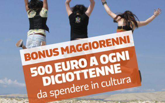 Cose é il Bonus Cultura per maggiorenni Il Governo Renzi ha deciso di dare un Bonus Cultura ai maggiorenni, ma voi sapete di cosa si tratta? In pratica con una carte prepagata con 500 euro si potranno comprare biglietti per teatro, concer #soldi