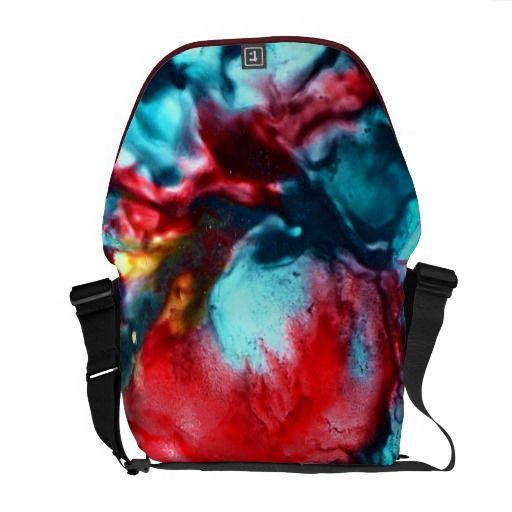 Abstract,Medium Messenger Bag Outside Print