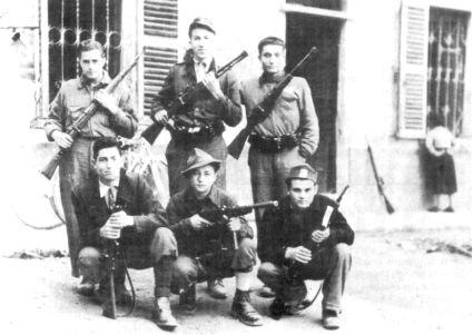 Italian partisans. Circa 1944.