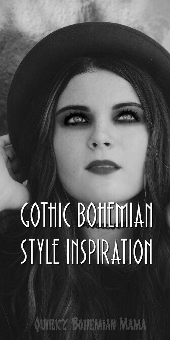 Gothic Bohemian Style Inspiration {Boho Goth Fashion} Gothic fashion, bohemian fashion, gothic gypsy, witch fashion, bohemian halloween #halloween #gothic #gothicbohemian