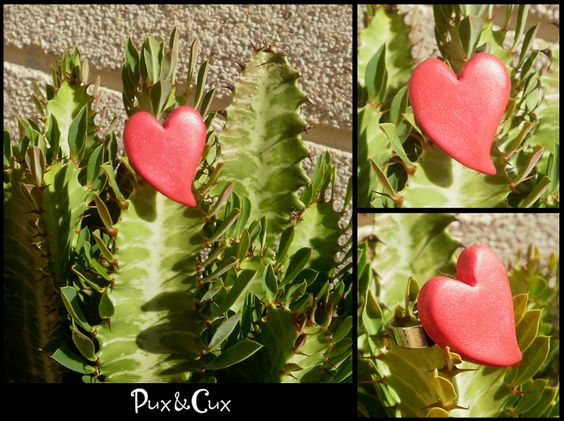 anillo, corazón,  #fimo, #arcillapolimérica, #polymerclay, #handmade, #hechoamano, #artesanal, #artesanía