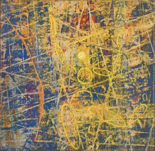 Max Ernst, La Création du Monde (Oil on paper laid down on masonite), 1951.