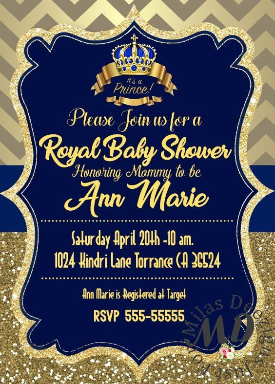 Royal Themed Baby Shower Invitations Best Of Royal Prince Baby Shower Invit Royal Baby Shower Invitation Baby Shower Invitations Prince Baby Shower Invitations