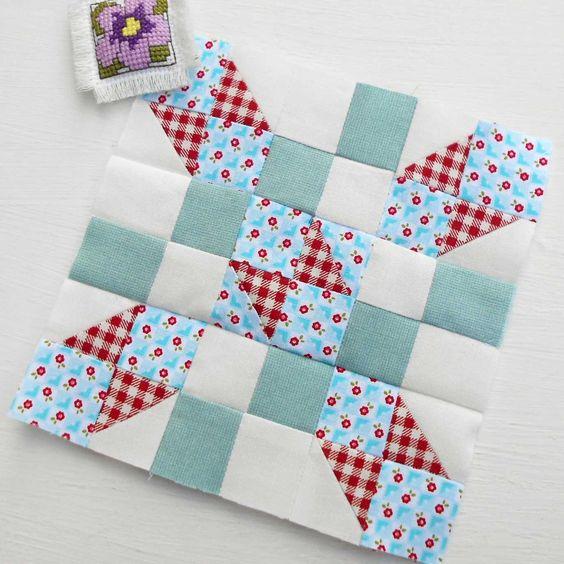 The Splendid Sampler Block 2 - Wings.  Designed by Jane Davidson.  Love this patchwork block.