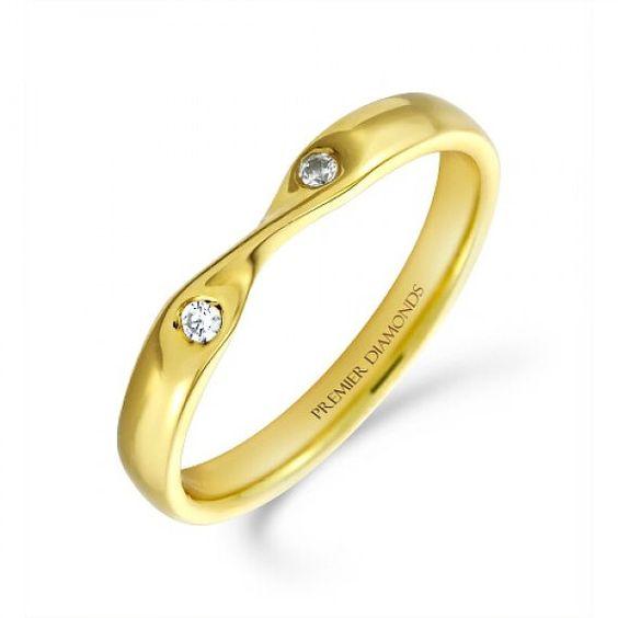 2 Stone Twisted Diamond Wedding Band by ArahJames on Etsy