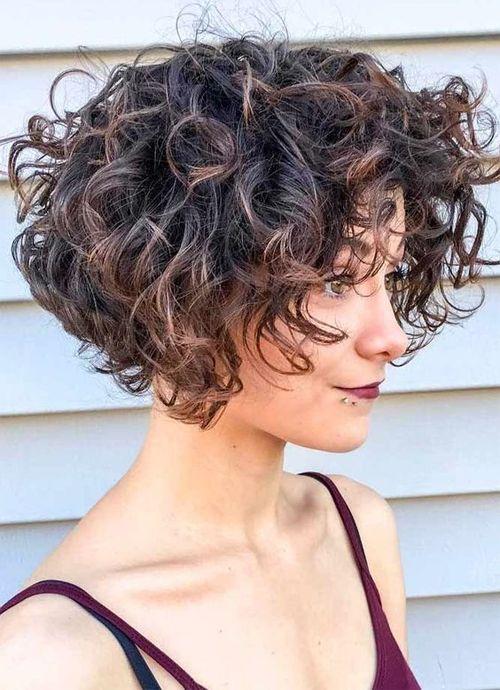 Short Curly Hairstyles 2019 Hair Hair Cachos Curtos Cabelo