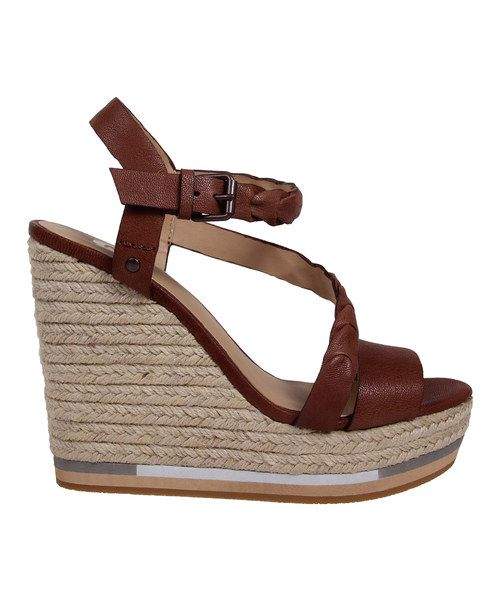 Look at this Red & Brown Rane Leather Wedge on #zulily today!