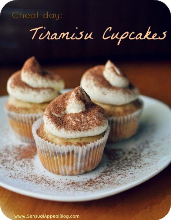 Tiramisu Cupcakes {cheat day} - Sensual Appeal