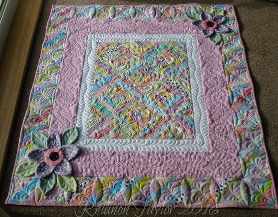 The Nifty Stitcher: Scrappy Strings Baby Quilt: