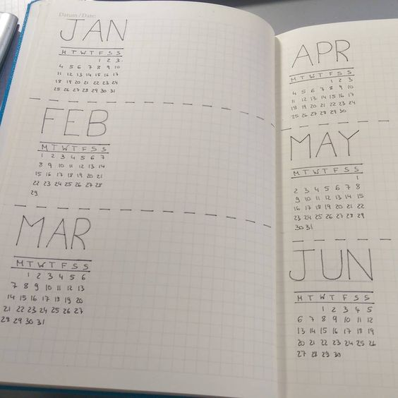 Yearly Calendar Bullet Journal : Pinterest the world s catalog of ideas