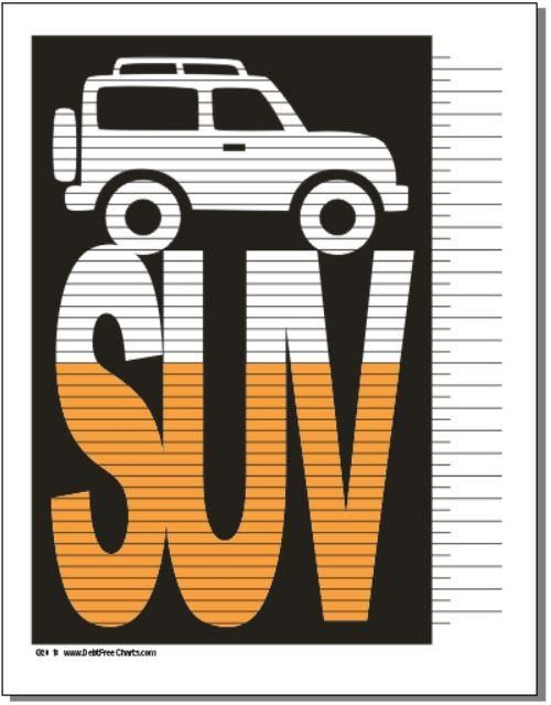 Suv Loan Payoff Debt Payoff Printables Sinking Funds