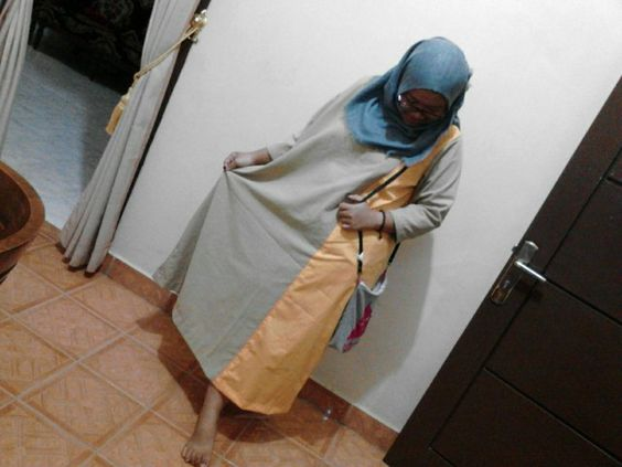 Big size long dress gamis, simple motif you can orders guys,