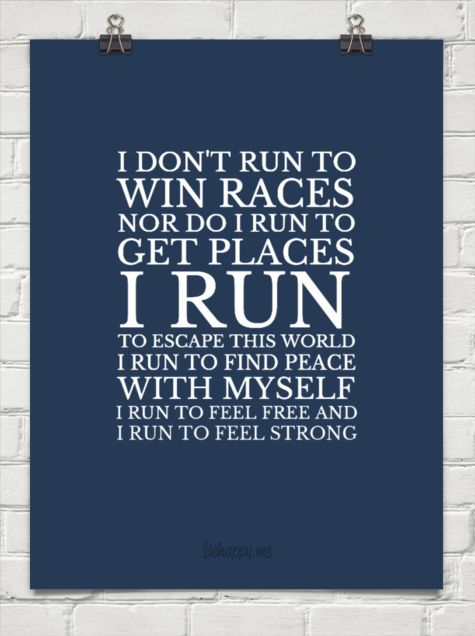 We run for ourselves!!!: