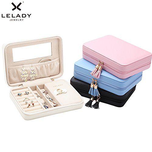 Amazon|LELADY ジュエリーボックス アクセサリーケース 鏡付き
