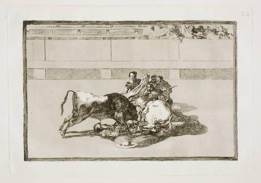 Goya en El Prado: Caida de un picador de su caballo debajo del toro
