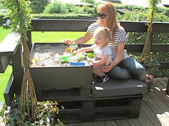 Sandkasse m/siddeplads til altanen/terrassen. køb delene på www ...