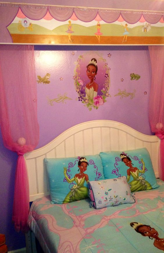 Disney disney princess and princess tiana on pinterest for Disney themed bedroom ideas