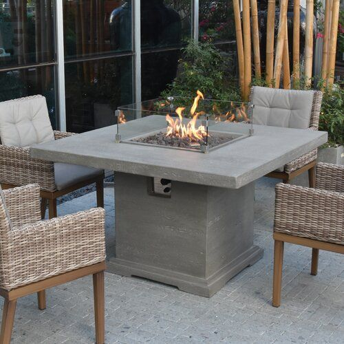 Sol 72 Outdoor Damion Dining Concrete Propane Fire Pit Table Fire Pit Table Propane Fire Pit Table Fire Pit Furniture