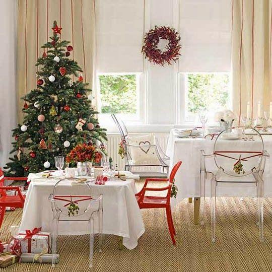 sala decorada - natal