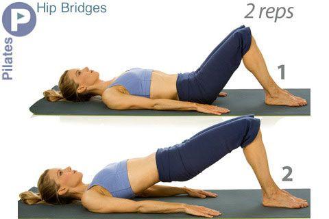 Hip Bridges (aka: Short Bridge or Pilates Bridge ...