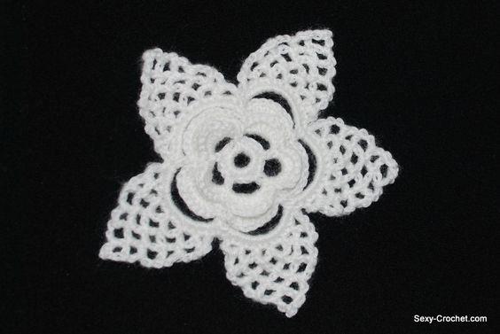 Una flor de ganchillo paso a paso | SexyCrochet.COM