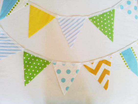 BUNTING BANNER CUSTOM  Fabrics to mix and match to by MyModernHome, $25.00