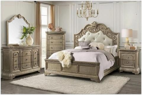 Vincenza Queen Bedroom Set In 2020 Bedroom Furniture Sets Queen