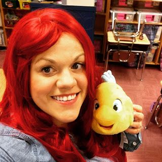 CasedillaCrumbs in the Classroom: Five For Friday-  ariel halloween teacher costume disney princess little mermaid 10/30