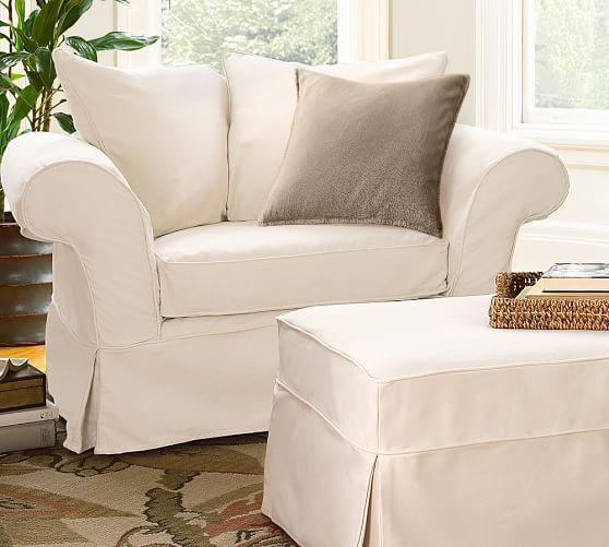 Charleston Slipcovered Chair And A Half Slipcovers For Chairs Chair And A Half Overstuffed Chairs