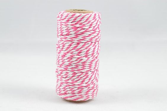 BAKERS TWINE  Pink & White Twotone Twisted Cotton by lightandco, $5.00