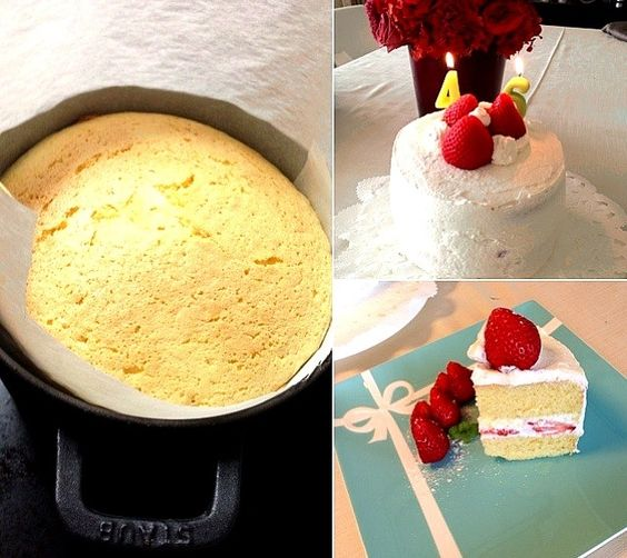 甜菜糖でヘルシーに☆ - 8件のもぐもぐ - バースデーいちごショートケーキ by fromiyuki