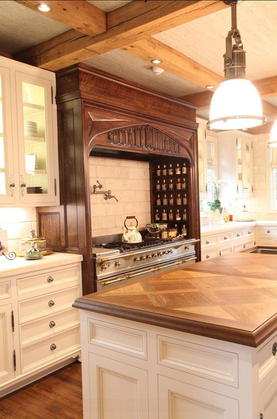Best Kitchen Custom Kitchen With Mix Of Paint Grade And Stain 640 x 480
