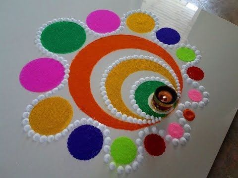 Quick And Easy Rangoli Ideas For Diwali 2019 You Would Love To Copy From Colorful Rangoli Designs Easy Rangoli Designs Diwali Rangoli Border Designs,Green Plain Saree With Designer Blouse Images