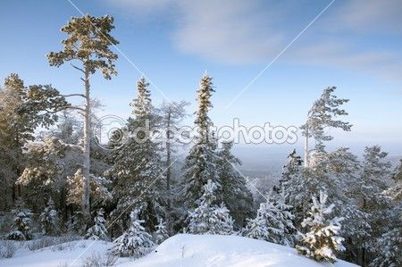 Top of mountain under snow © likevovo