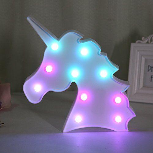 Luces Led De Luz Nocturna Para Niños Con Forma De Unicornio Luces De Navidad D Ideas De Dormitorio Para Niñas Dormitorio De Unicornio Decoracion De Unicornio