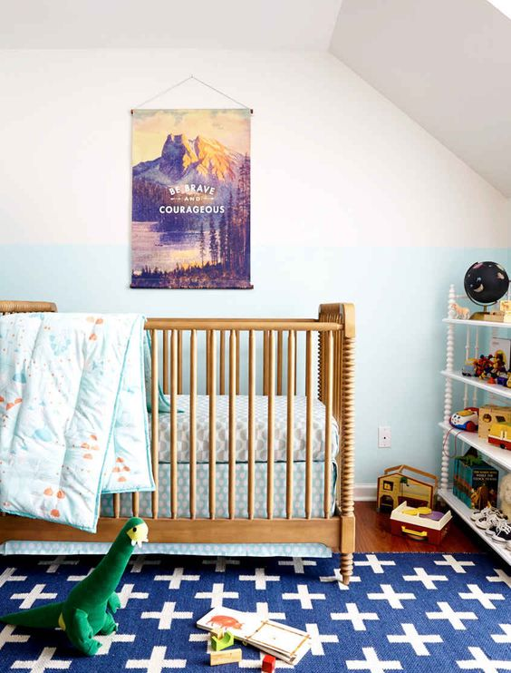 girly, nautical nursery with the land of nod | Lay Baby Lay