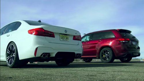 Surprisingly Evenly Matched Jeep Trackhawk Drag Races Bmw M5