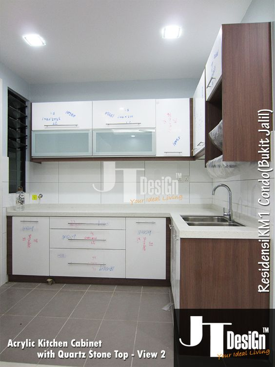 Kitchen Cabinet at Residensi KM1(View 2) Material: Door: Acrylic ...