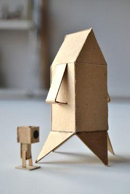 cardboard rocketship