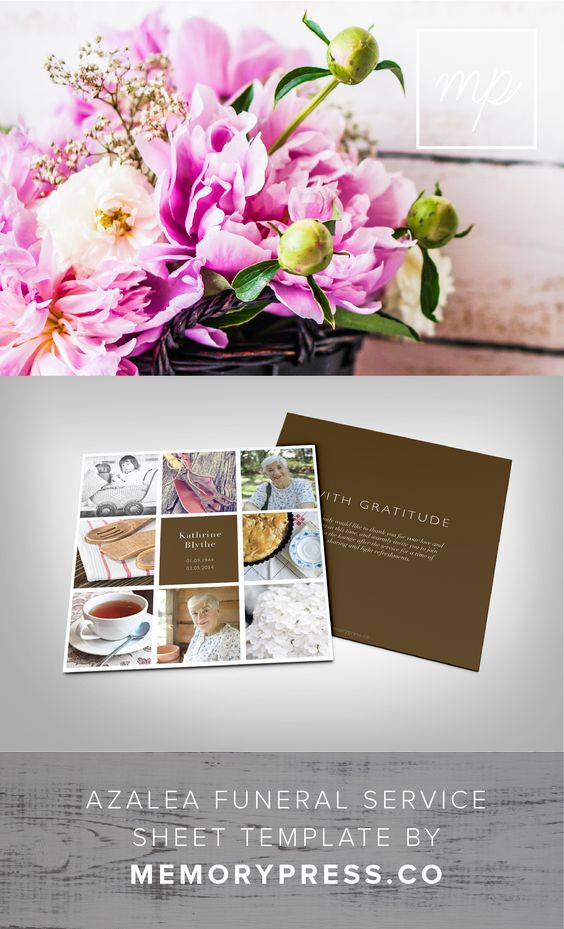 Pinterest the world s catalog of ideas for Funeral service sheet template