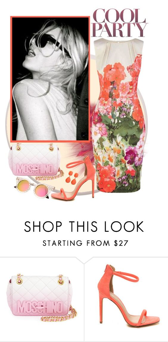 """""""Floral dress"""" by calisa ❤ liked on Polyvore featuring Balmain and Moschino"""