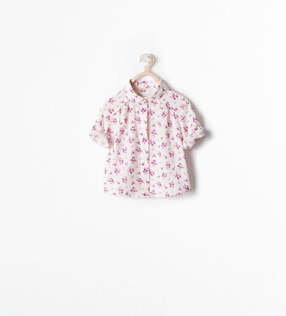 ZARA - KIDS - PRINTED SHIRT WITH ROLL-UP SLEEVES $18