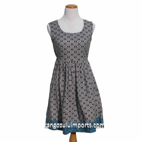 Fair Trade Dress Community Garden Black - Tango Zulu Imports