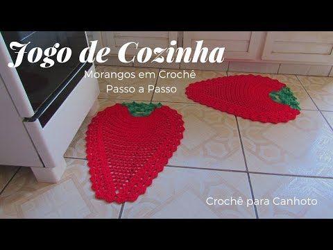 Croche Para Canhoto Jogo De Cozinha Morango Em Croche Youtube