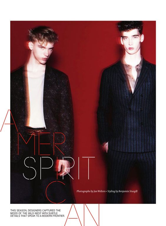 American Spirit for Details Magazine by Jan Welters via http://www.dailymalemodels.com
