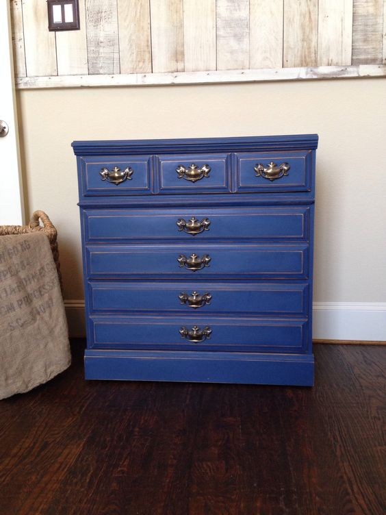 Best Annie Sloans Nautical Blue Large Night Stand Or Small 400 x 300