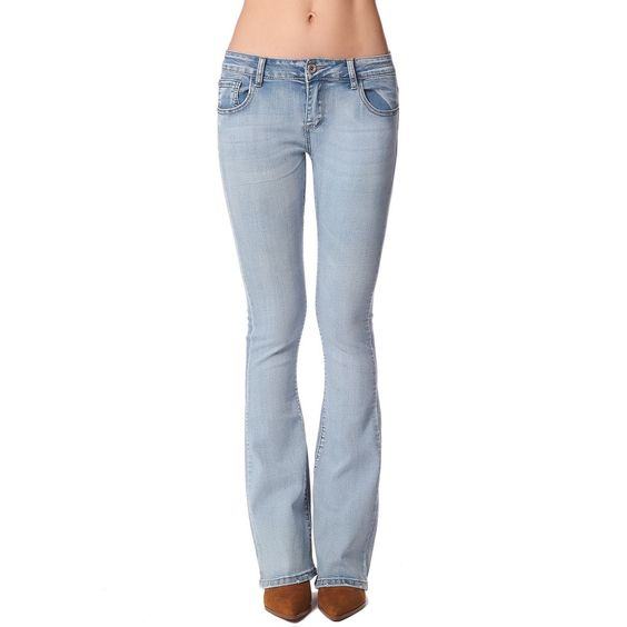 Skinny flare jeans with low-rise waistband Skinny flare jeans with ...