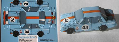 Isn't this cool. The business card is a punch out toy car.: