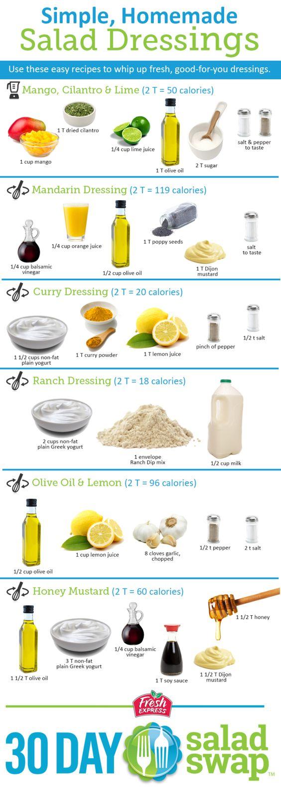 Simple, Homemade Salad Dressing Ideas. #saladswap #FreshExpress http://www.saladswap.com/