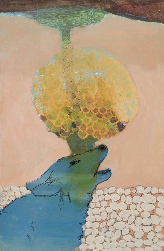 Blue Dog, 2011 by Alexandra Wiesenfeld.